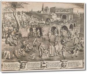 Брейгель_ученики Катание на коньках перед воротами св.Георгия г.Антверпена