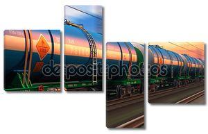 грузовой поезд с налива нефти