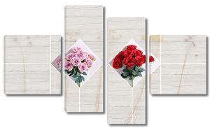 Букеты роз на кафеле