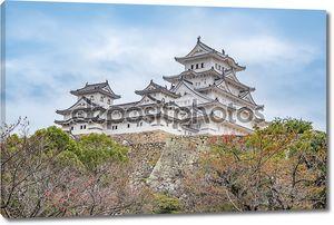 Замок Химэдзи в Японии, также называется белым замоком цапля