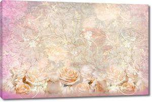 Коллаж с прекрасными розами
