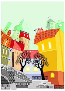 Домики старого города