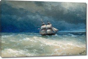 Айвазовский. Прибрежный сюжет с бурными водами