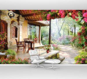 Уютный домик в уютном саду