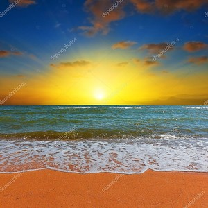 Драматические море восход