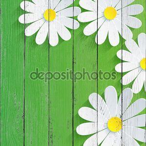 3D цветок ромашка, Весна абстрактный фон