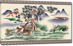 Антилопы под сосной