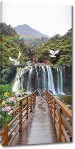 Мост к радуге над водопадом