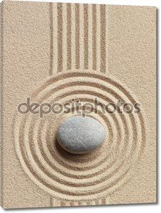 Zen камень в песке