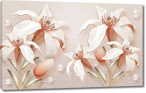 Лилии с нераскрытыми бутонами