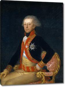 Гойя и Лусиентес Франсиско де. Генерал Антонио Рикардос