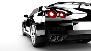 Черная задняя автомобилей