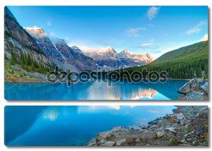 Восход солнца на озеро