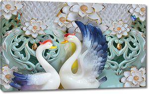 Фарфоровые лебеди