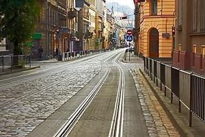 Старые мощеные дороги в Львове, Украина