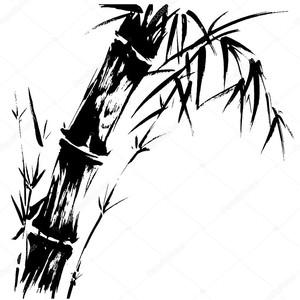 бамбуковый рисунок силуэта