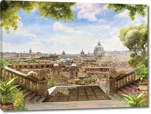 Веранда с видом на потрясающий город