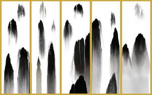 Витраж. Черные скалы