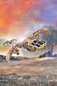 космический корабль истребитель-бомбардировщик