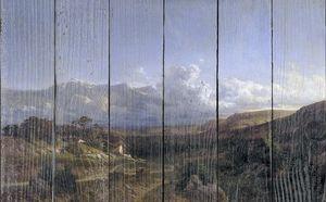 Аэс Карлос де. Пейзаж в Дофинэ