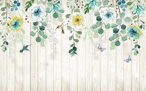 Цветы спускающиеся по забору
