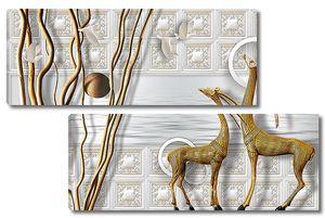 Абстракция с антилопами