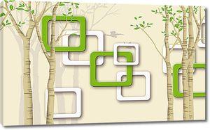 Широкие рамки с деревьями