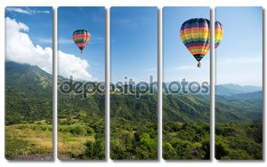 Воздушные шары на фоне гор