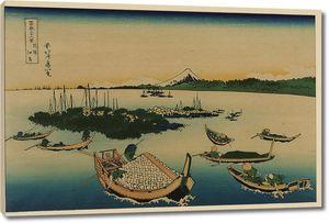 Кацусика Хокусай. Остров Цукудадзима в провинции Мусаси