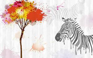 Зебра и дерево из клякс