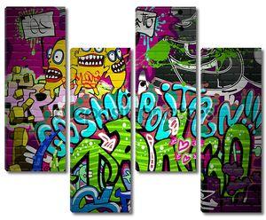 Граффити стены городского искусства фон. Гранж художественных Дези хип-хоп