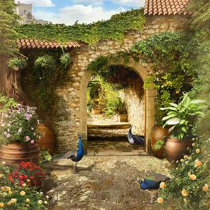 Двор с фазанами