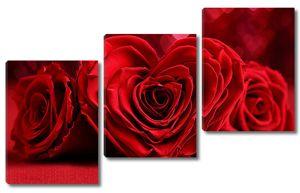 Розы в виде сердечек