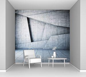 Бетонная стена геометрической формы