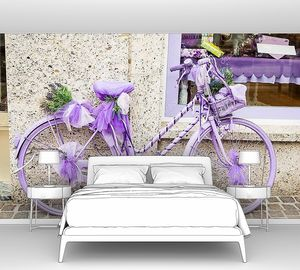 Сиреневый велосипед