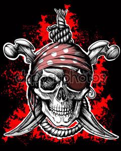 Черный череп Веселый Роджер