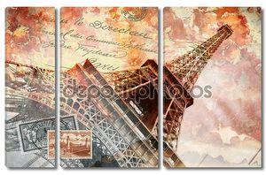 Эйфелева башня Париж, абстрактное искусство