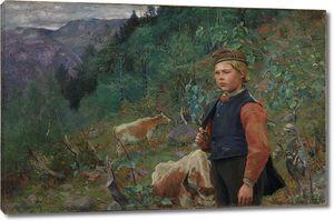 Кристиан Скредсвиг. Винье в образе мальчика-пастуха