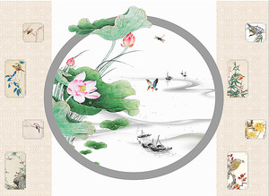 Японские сюжеты с цветами