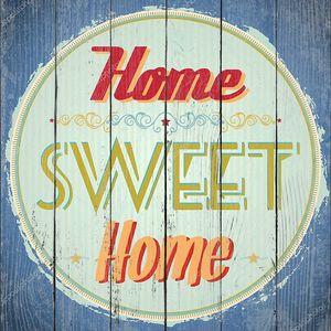Винтаж Home Sweet Home знак