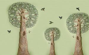 Деревья с круглой кроной