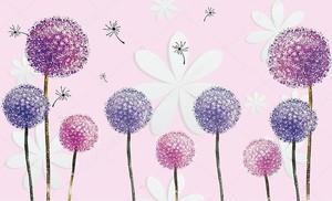 Красочные одуванчики и цветы из бумаги