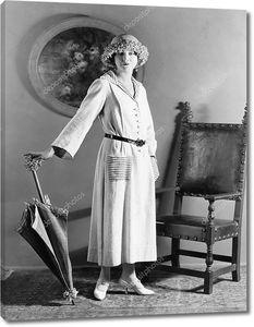 Портрет женщины с зонтиком