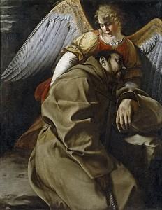 Орацио Джентилески. Св Франциск, поддерживаемый ангелом