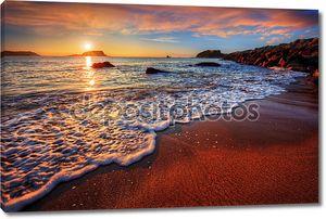 Океан пляж на закате