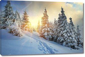 Зимний пейзаж на сопках
