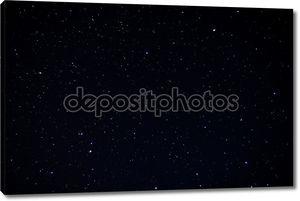Реальные ночное небо с звездами