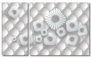 Обивка, абстрактные белые квадратные цветы