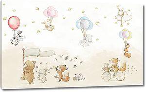Забавные зверушки с шариками