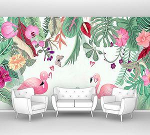 Фламинго с сердечками
